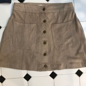 Ultra suede mini skirt